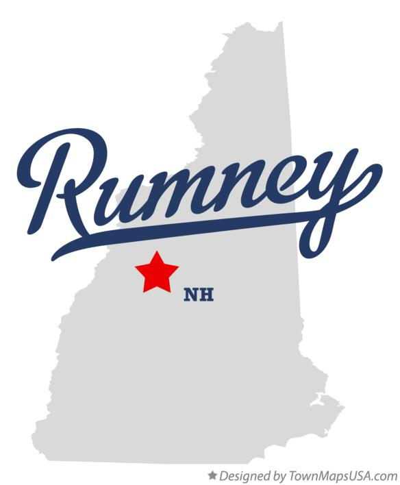 Map of Rumney New Hampshire NH
