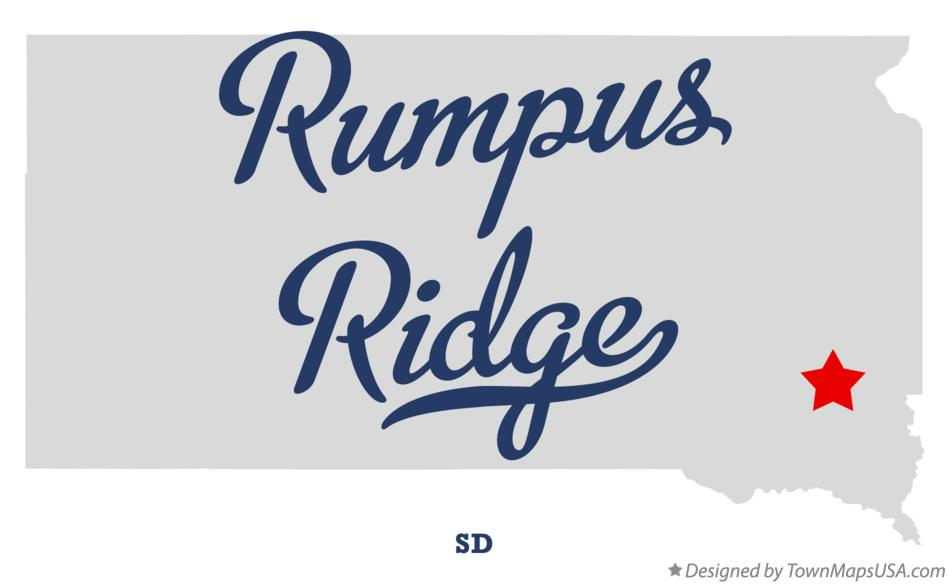 Map of Rumpus Ridge South Dakota SD