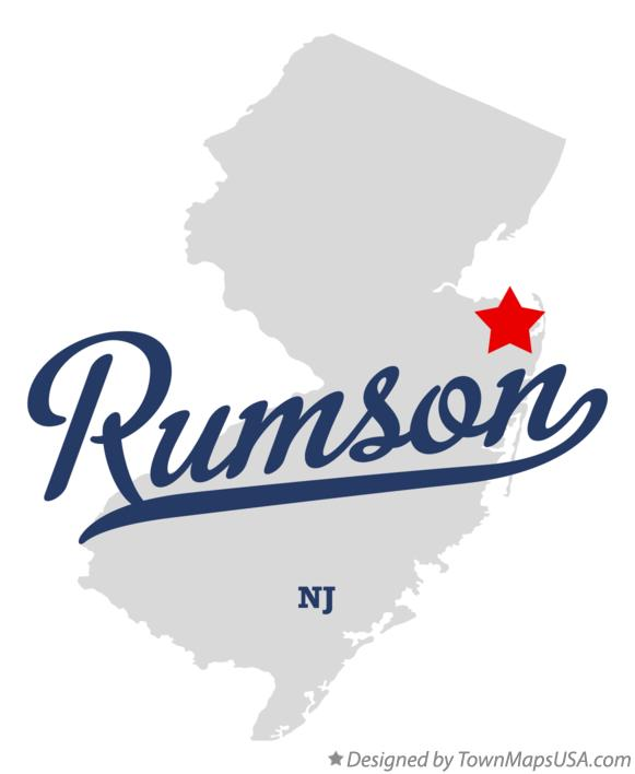 Map of Rumson New Jersey NJ