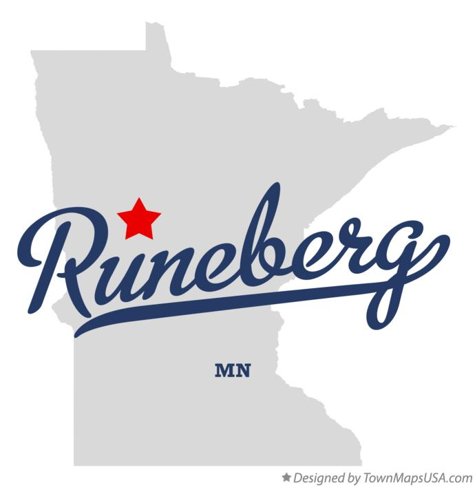 Map of Runeberg Minnesota MN