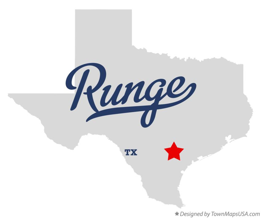 Map of Runge Texas TX