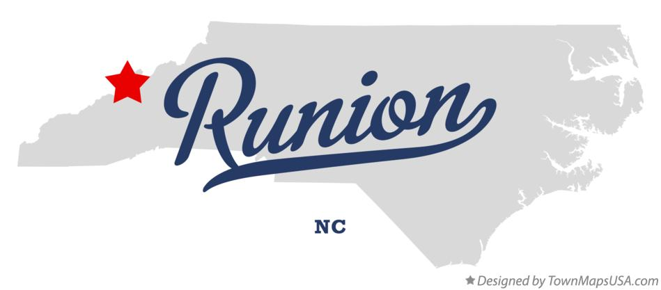 Map of Runion North Carolina NC