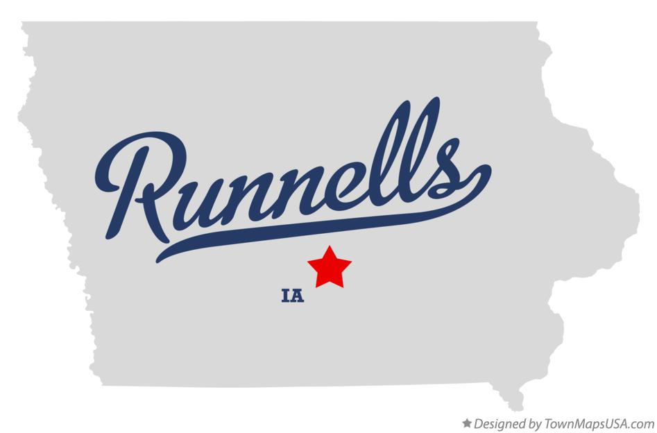 Map of Runnells Iowa IA