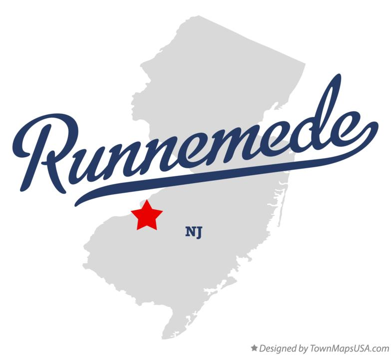 Map of Runnemede New Jersey NJ