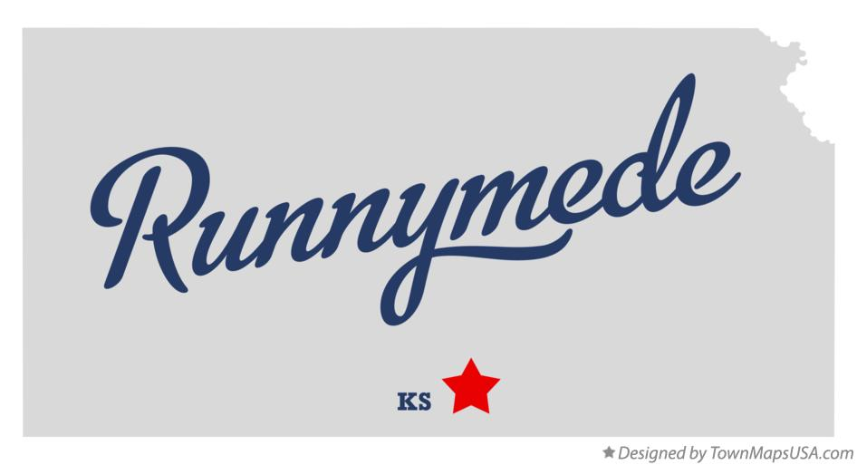 Map of Runnymede Kansas KS