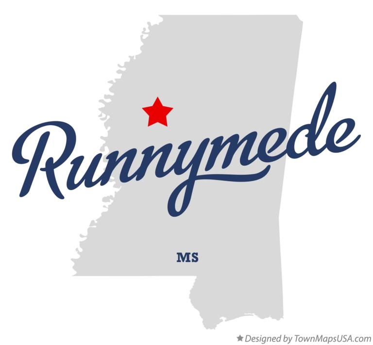 Map of Runnymede Mississippi MS