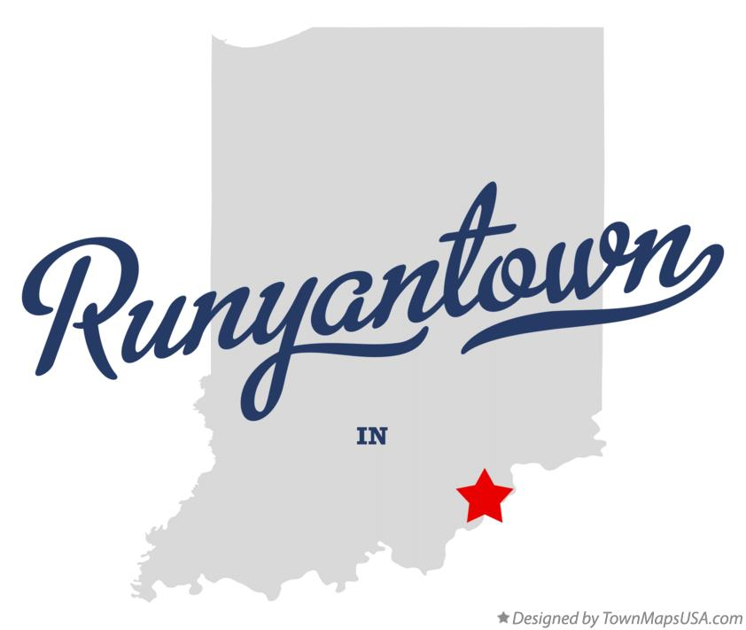 Map of Runyantown Indiana IN
