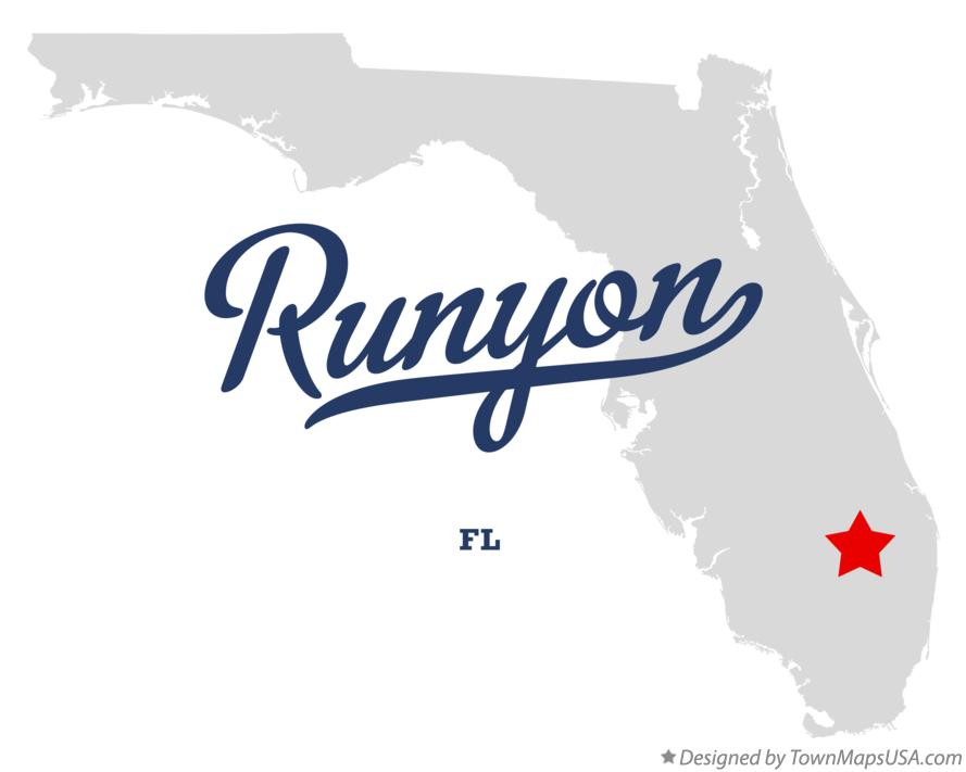 Map of Runyon Florida FL