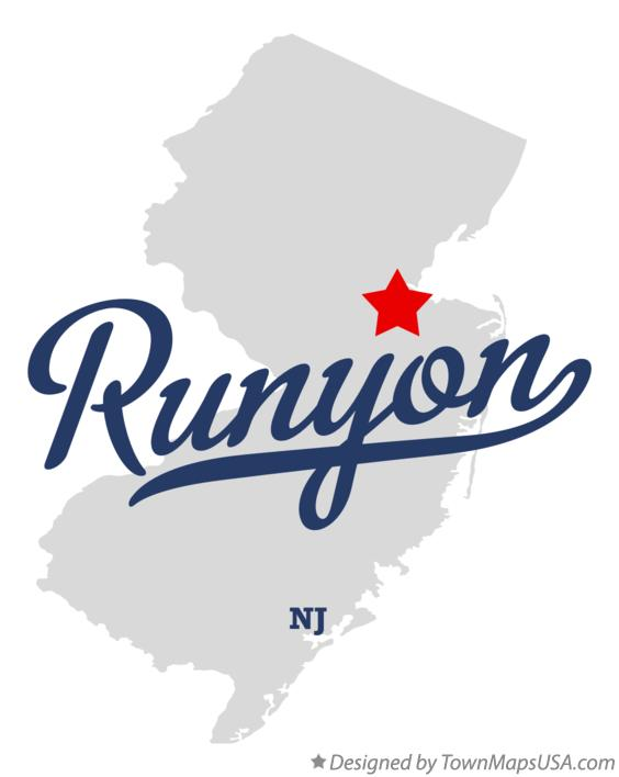 Map of Runyon New Jersey NJ
