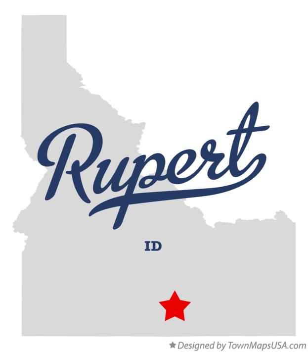 Map of Rupert Idaho ID