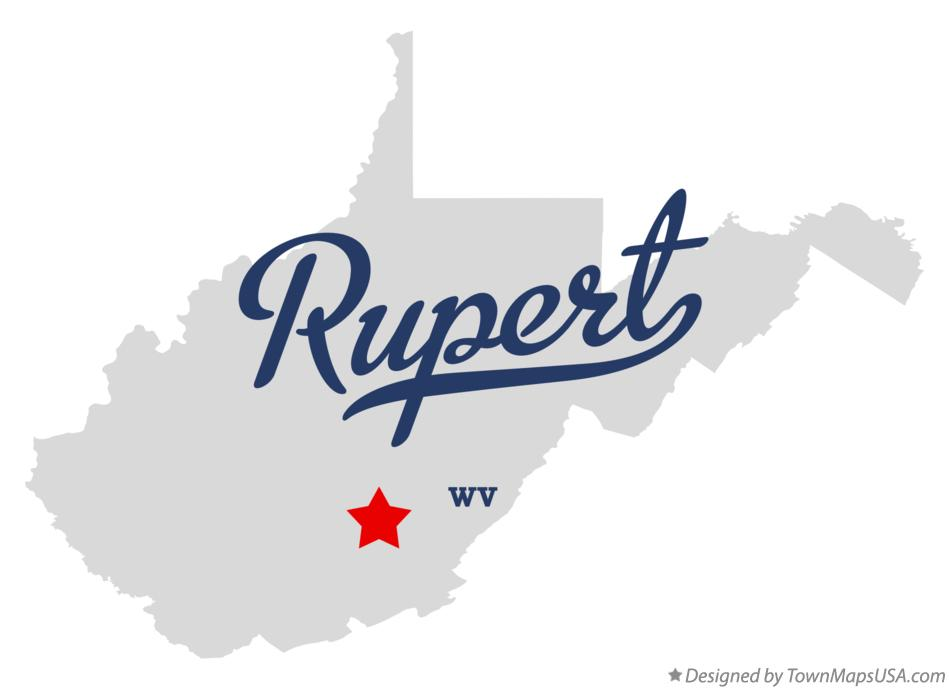 Map of Rupert West Virginia WV