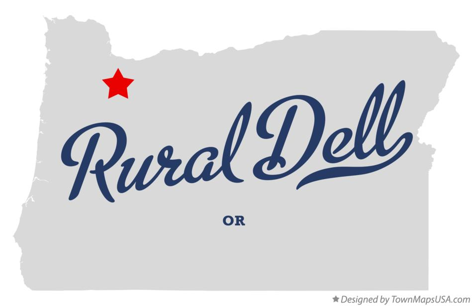 Map of Rural Dell Oregon OR