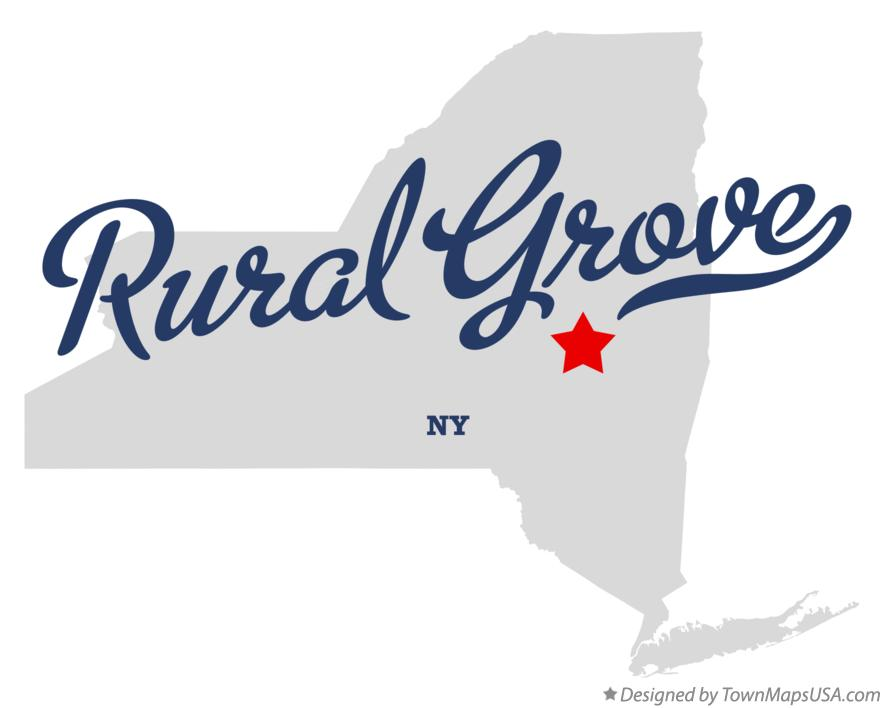 Map of Rural Grove New York NY