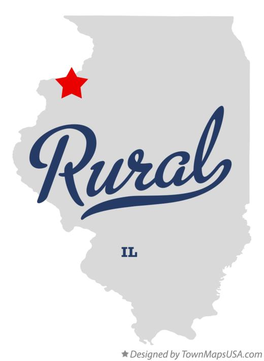 Map of Rural Illinois IL
