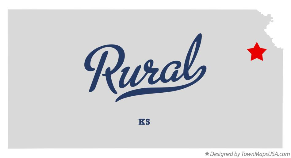 Map of Rural Kansas KS