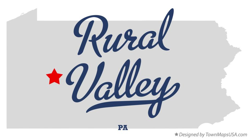 Map of Rural Valley Pennsylvania PA