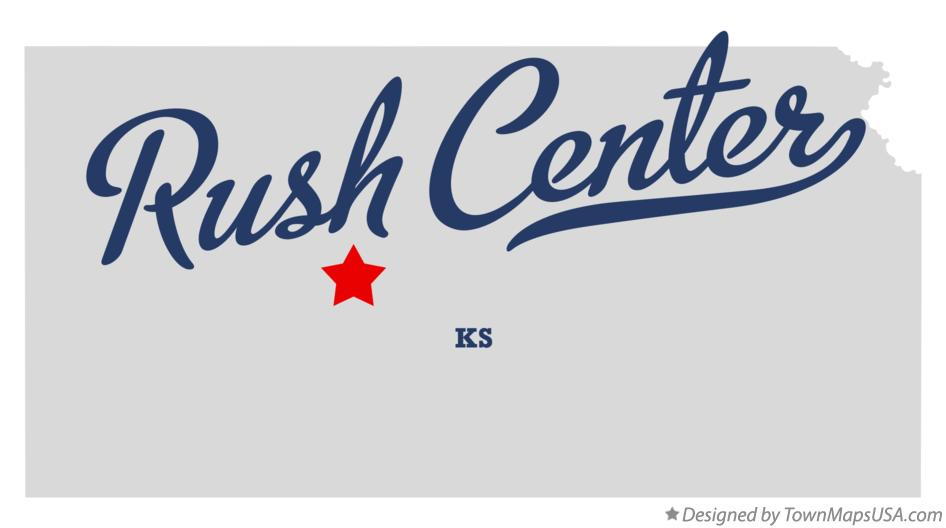 Map of Rush Center Kansas KS