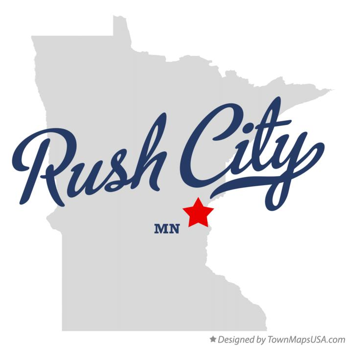 Map of Rush City Minnesota MN