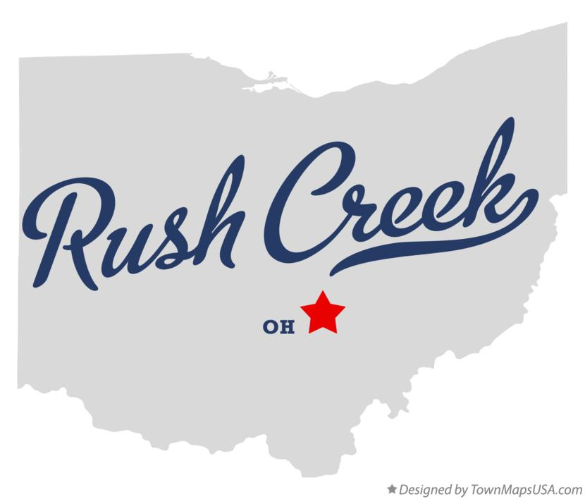 Map of Rush Creek Ohio OH