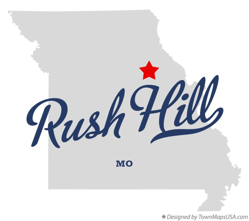 Map of Rush Hill Missouri MO