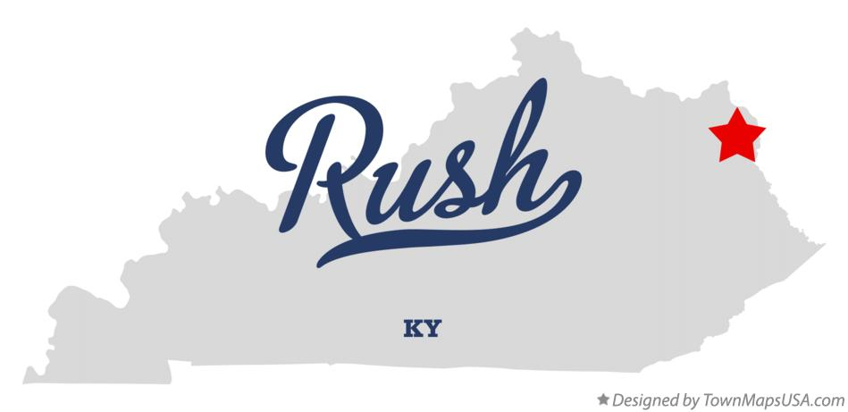 Map of Rush Kentucky KY