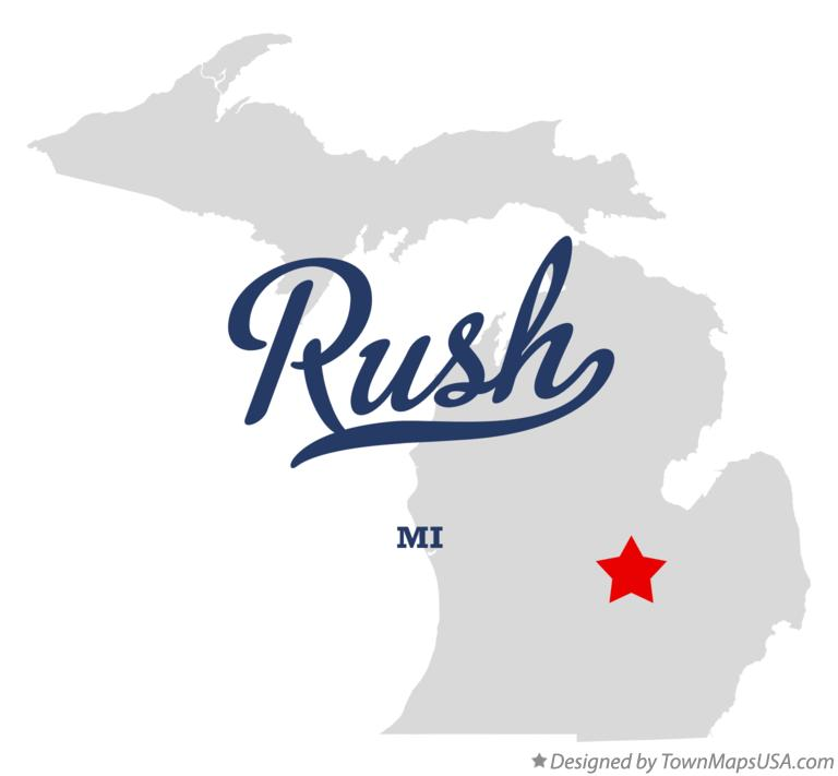 Map of Rush Michigan MI