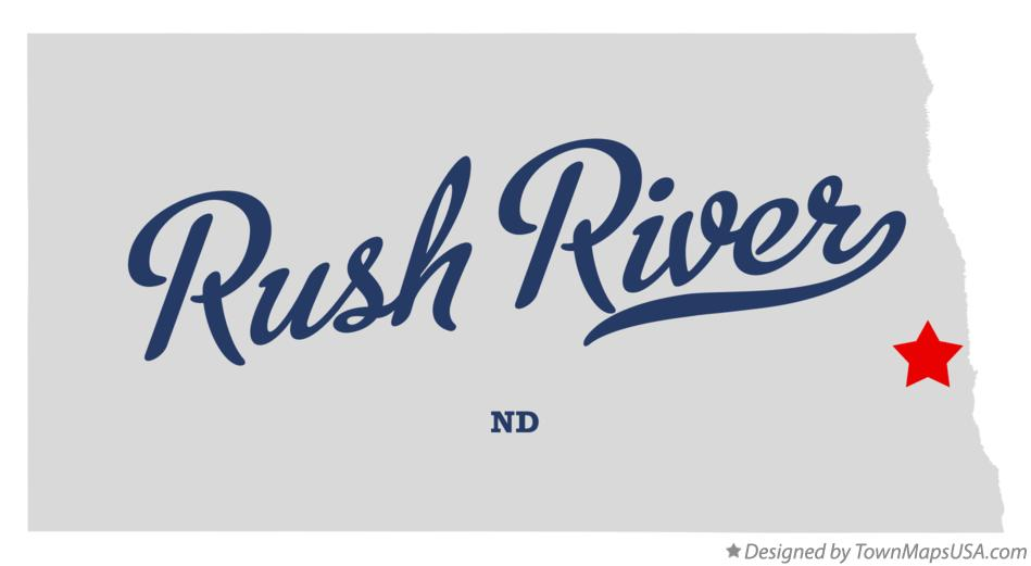 Map of Rush River North Dakota ND