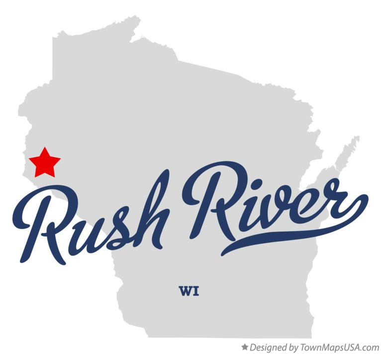 Map of Rush River Wisconsin WI