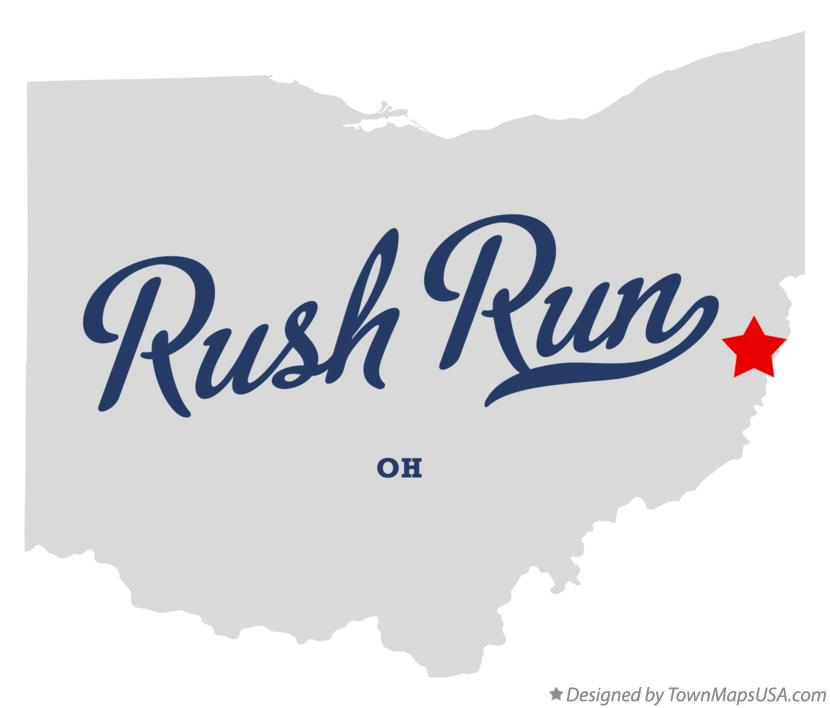 Map of Rush Run Ohio OH