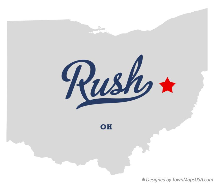 Map of Rush Ohio OH