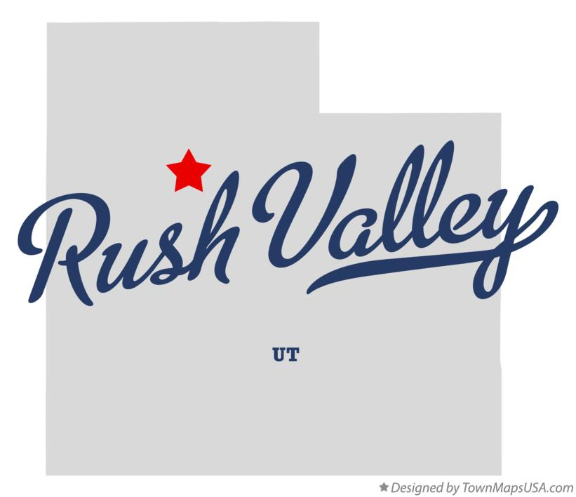Map of Rush Valley Utah UT