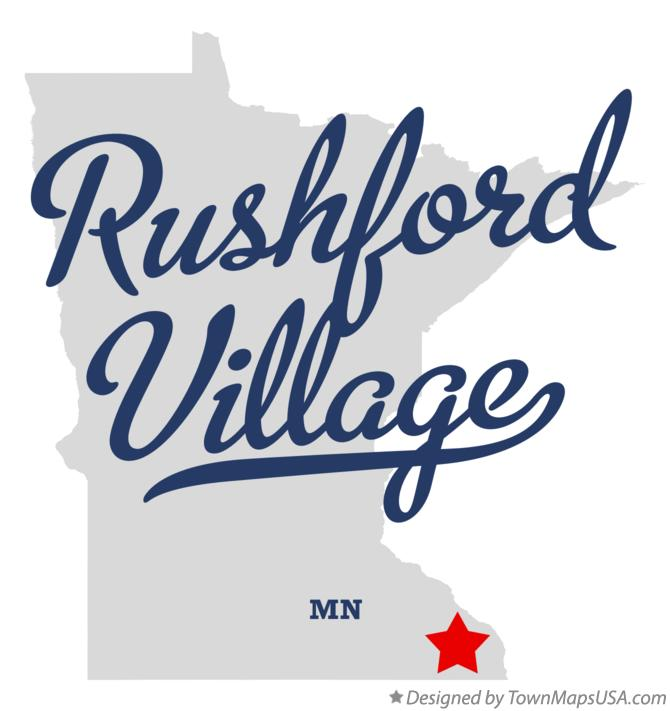 Map of Rushford Village Minnesota MN