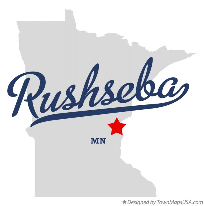 Map of Rushseba Minnesota MN