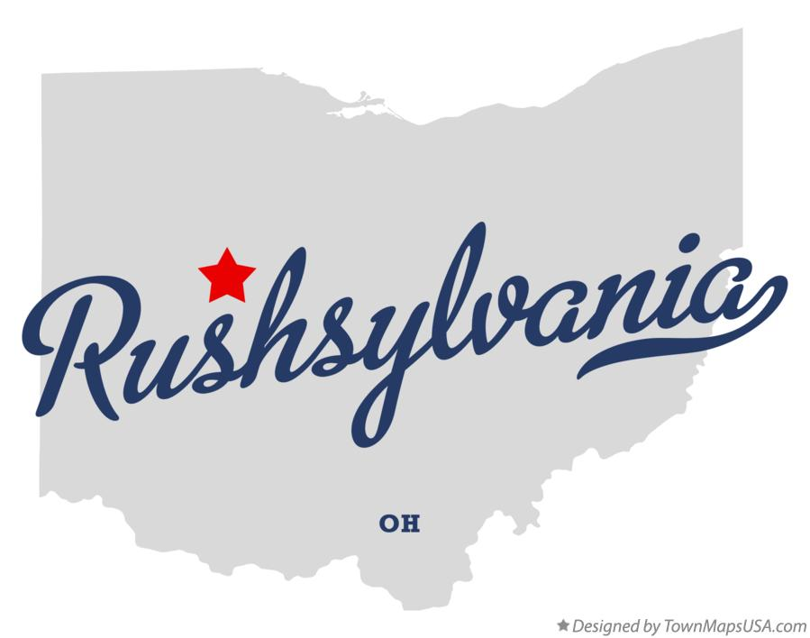 Map of Rushsylvania Ohio OH