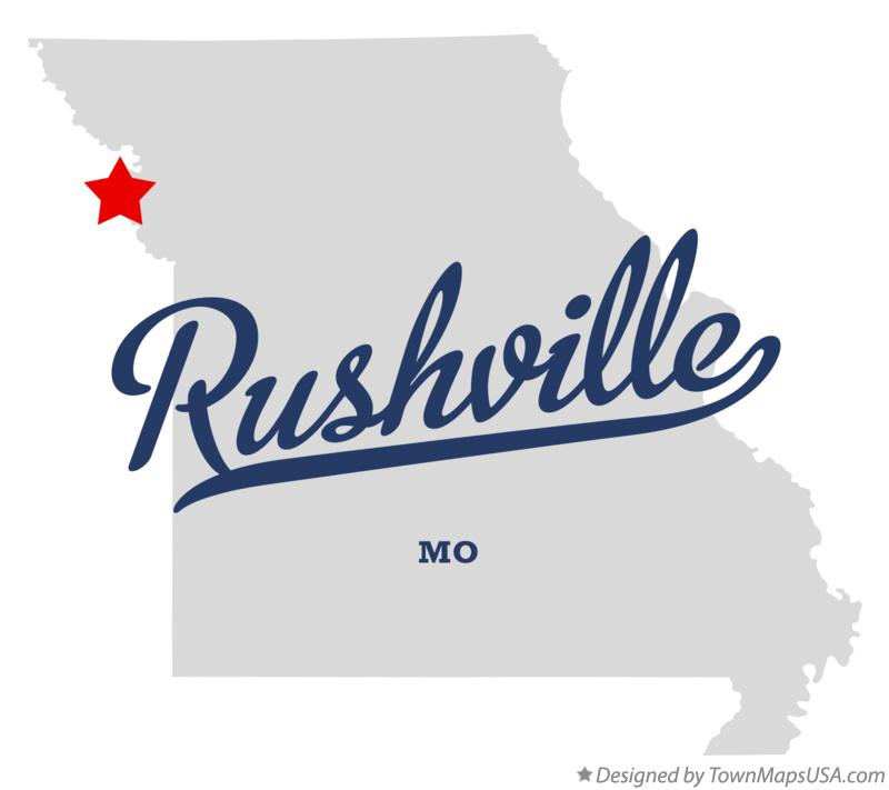 Map of Rushville Missouri MO