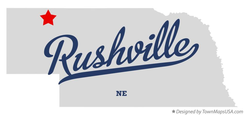 Map of Rushville Nebraska NE
