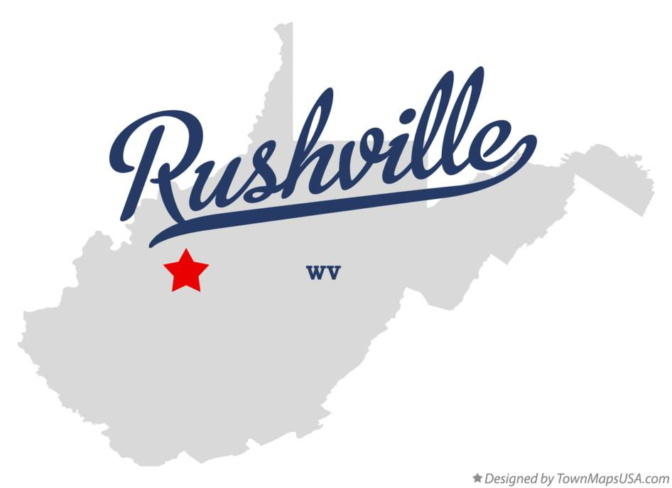 Map of Rushville West Virginia WV