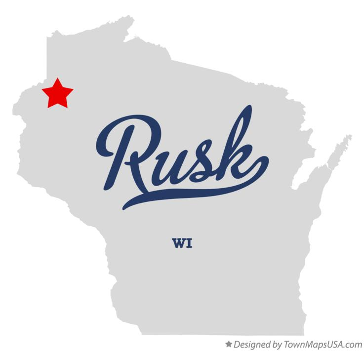 Map of Rusk Wisconsin WI