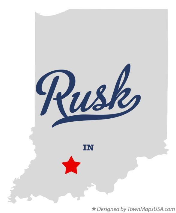 Map of Rusk Indiana IN