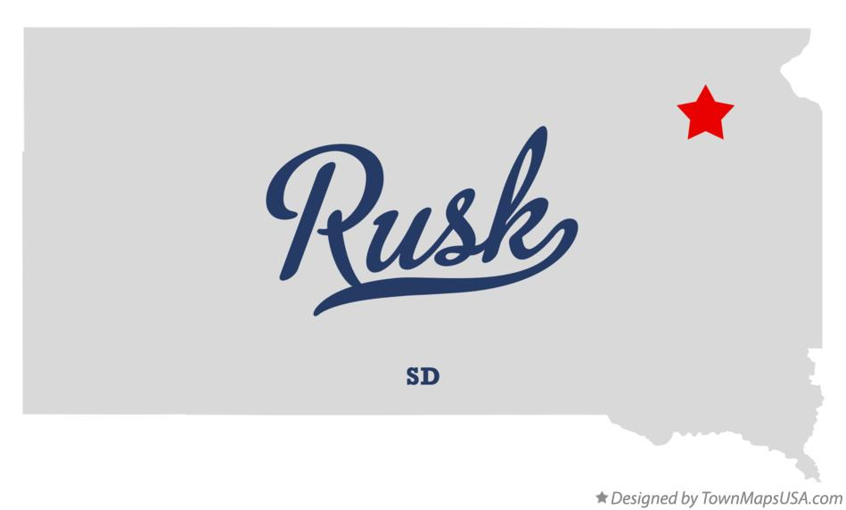 Map of Rusk South Dakota SD