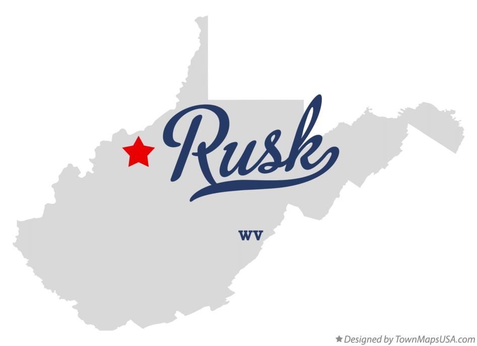 Map of Rusk West Virginia WV