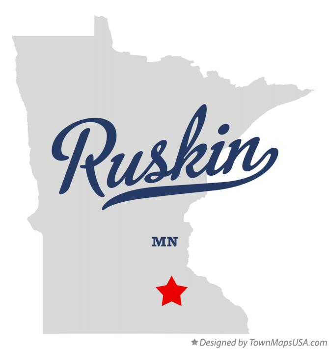 Map of Ruskin Minnesota MN