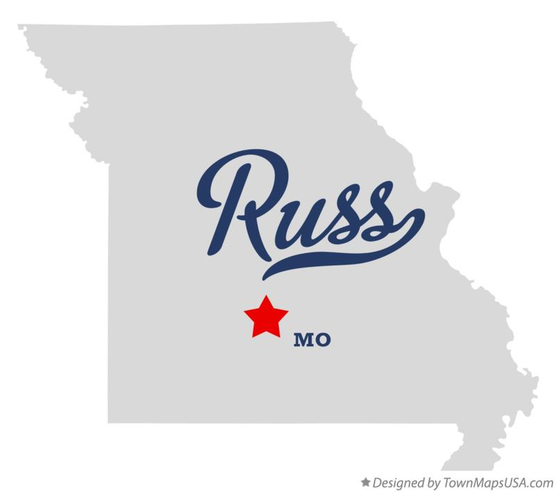 Map of Russ Missouri MO