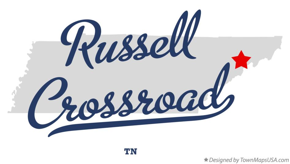 Map of Russell Crossroad Tennessee TN