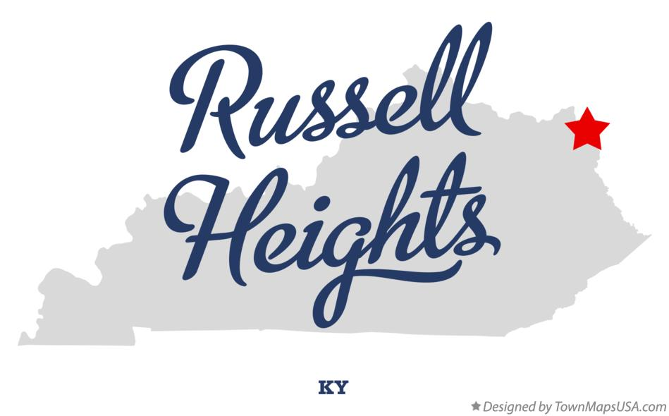 Map of Russell Heights Kentucky KY