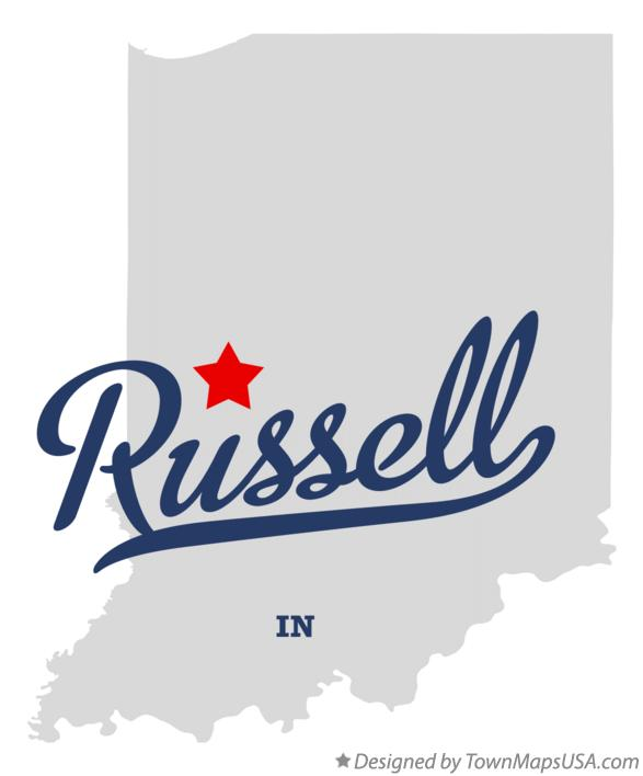 Map of Russell Indiana IN