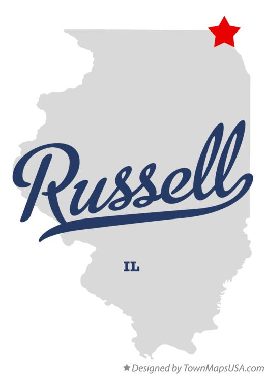 Map of Russell Illinois IL