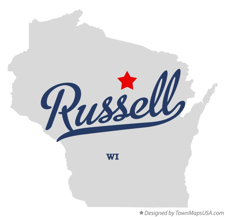 Map of Russell Wisconsin WI