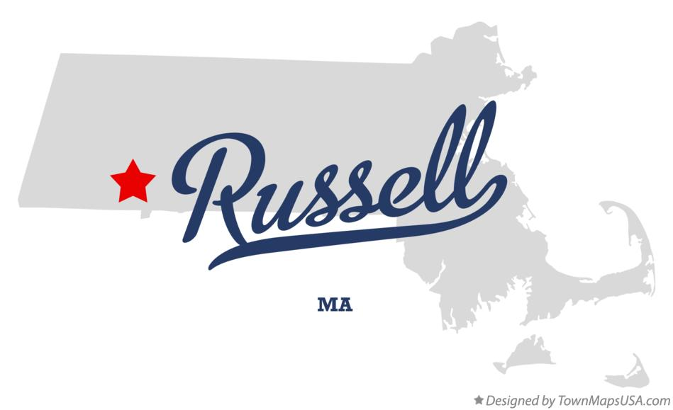 Map of Russell Massachusetts MA