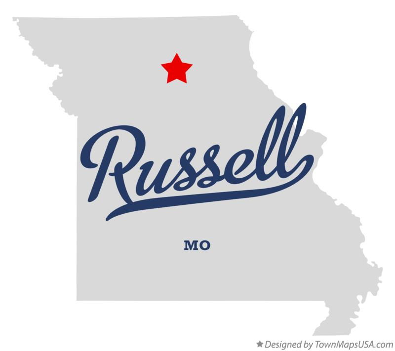 Map of Russell Missouri MO
